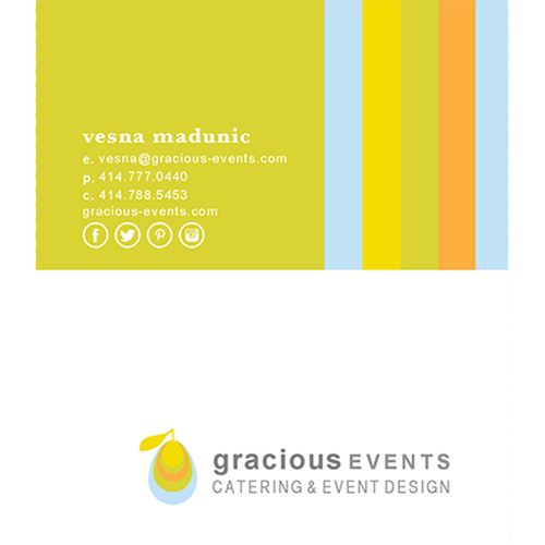 Gracious Catering Business Cards